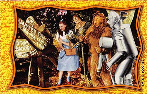 - Scarecrow Dorothy Lion Tin Man trading card Wizard of Oz 1999 TP gaming #WOZ24 size 2x3.5 Haunted Forest sign