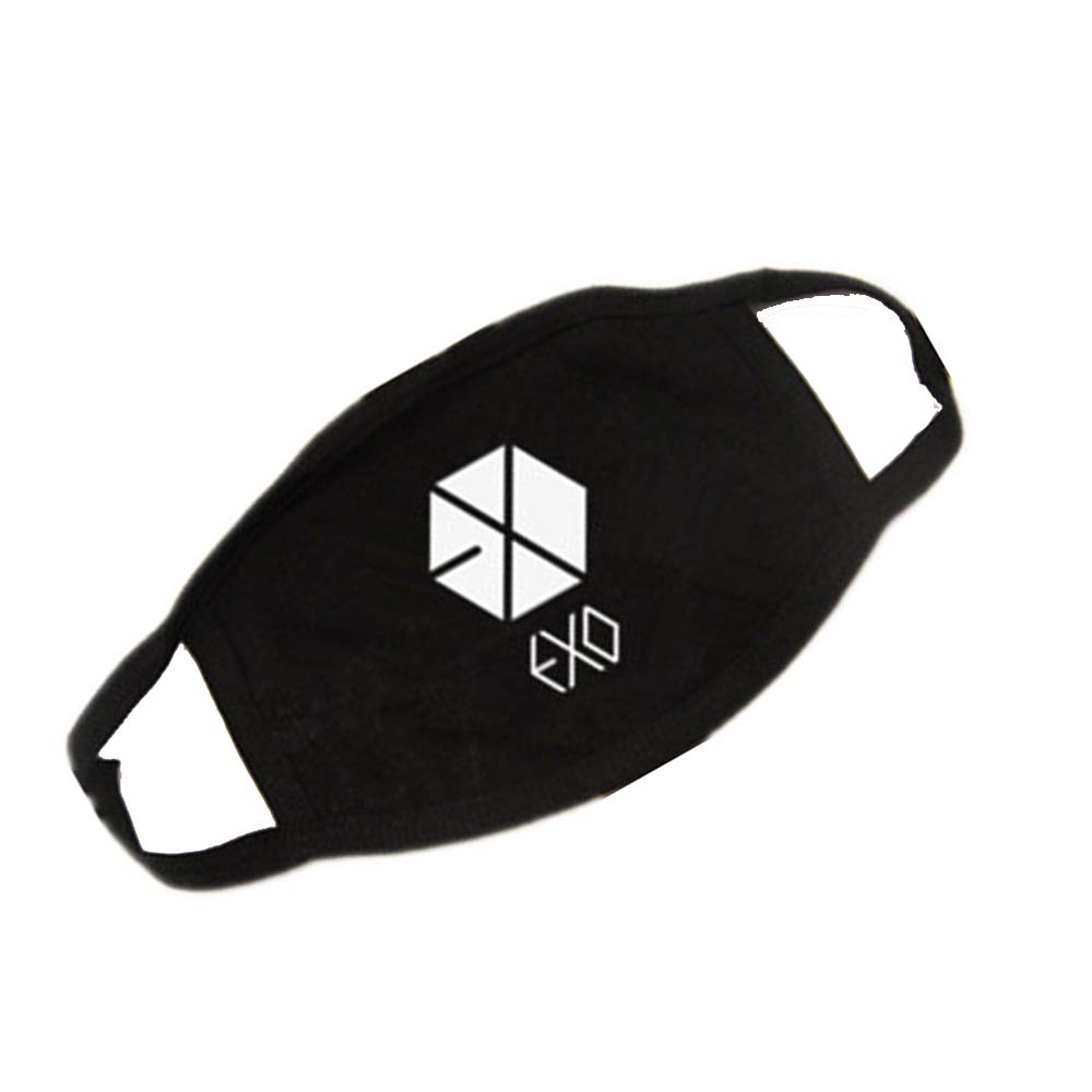 Xeminor 1PCS Unisex Cotton Earloop Mouth Mask EXO Fashionable Anti Dust Face Mouth Mask for Men/Women Outdoor Activities (Black)
