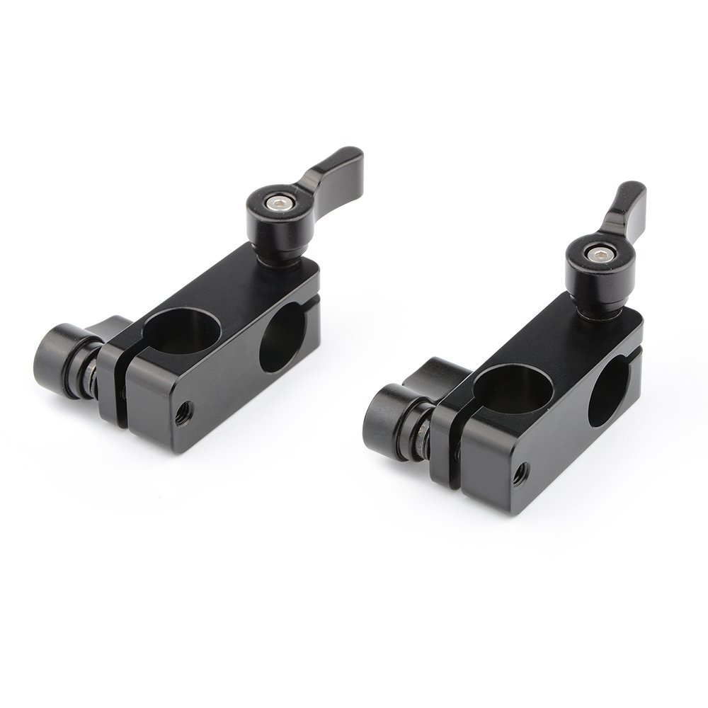 CAMVATE Right Angle Rod Clamp 15mm Rod 90 Degree Rotate for Video Camera DSLR Rig(2 PCS) by CAMVATE