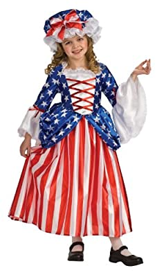 Rubies Deluxe Betsy Ross Costume - Medium 8-10 from Rubies - Domestic