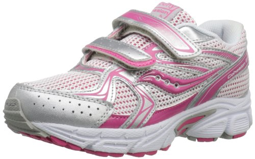 Saucony Girls Cohesion H&L Running Shoe (Little Kid/Big Kid),Pink/Silver,11 XW US Little Kid