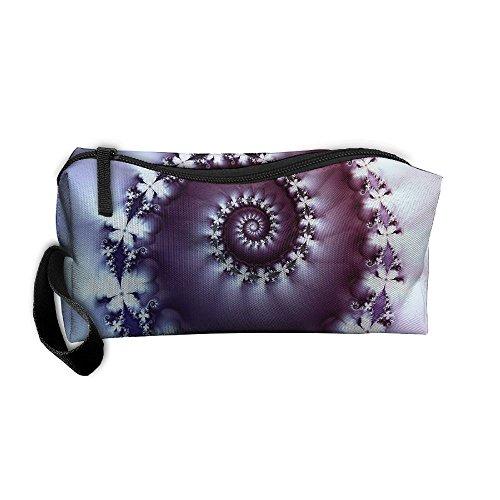 Jessent Coin Pouch Helix Purple Pen Holder Clutch Wristlet Wallets Purse Portable Storage Case Cosmetic Bags - Helix Clutch