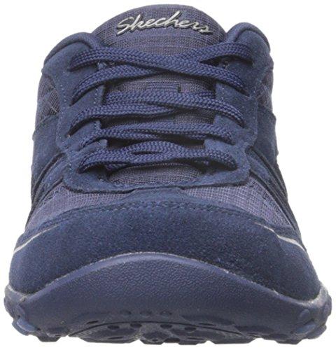 Skechers Sport Womens Breathe Easy Jackpot Fashion Sneaker Navy 2KEvKqjpyl