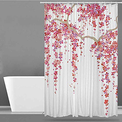 XXANS Womens Shower Curtain,House Decor Collection,Shower Hooks are Included,W108x72L Lilac Salmon Coral
