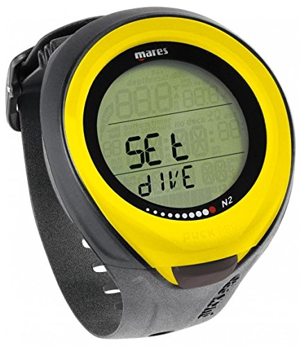 Mares Puck Pro Dive Watch Computer for Scuba Diving (Yellow)
