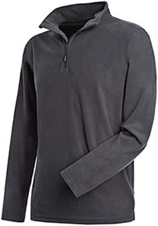 Stedman Mens Active Half Zip Fleece XL Gray Steel