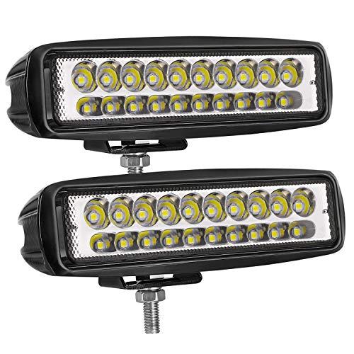 LED Pods Light, AKD Part 2PCS 6'' 80w LED Cubes Spot Driving Light Off Road Fog Light Bar Led Work Light Boat Lights Waterproof for Truck SUV Jeep Motorcycle Lamp,2 ()