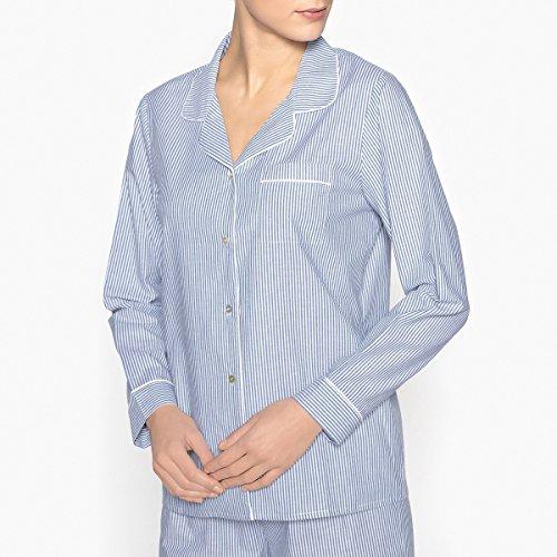 Blu Pigiama Donna Righe Camicia Redoute A Collections La Zx7q0wa