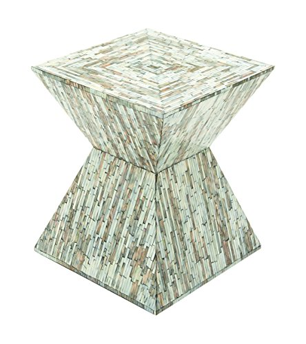 Deco 79 49092 Wood Inlay Accent Table, 16