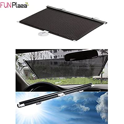 Funplaza® Black Retractable Sun Shade Roller Car Curtain Window Shade Uv Cut / Protection (55*125cm)