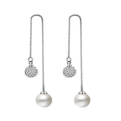 Amazon Com Globalwells Simple Tassel Earrings Chain Ear Jewelry