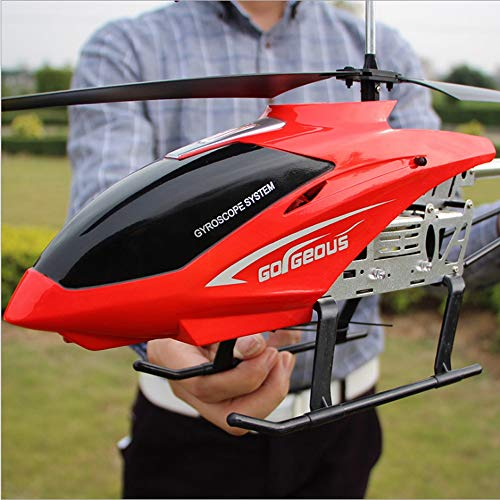 Kikioo 3.5CH Channel Resistance To Falling Huge Remote Control Airplane Aircraft Toy LED Heli RC Helicopter Stable Easy Learn Good Operation Helicopter Gifts Teenagers Boys Girls Adults Flying Toys - Helicopter Rc Heli