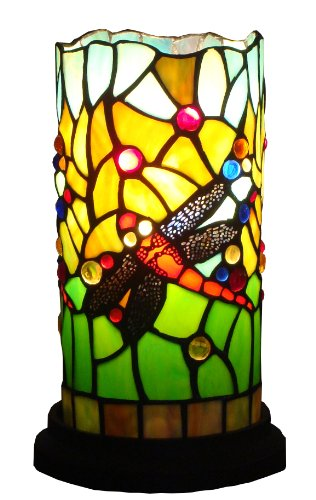 Amora Lighting AM1015ACC Tiffany Style Dragonfly Mini Table Lamp, ()