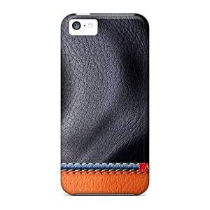 LJF phone case High Quality Mialisabblake Lether Skin Case Cover Specially Designed For Iphone - 5c