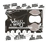 Wallet Ninja 18 in 1 Multi-purpose Credit Card Size Pocket...