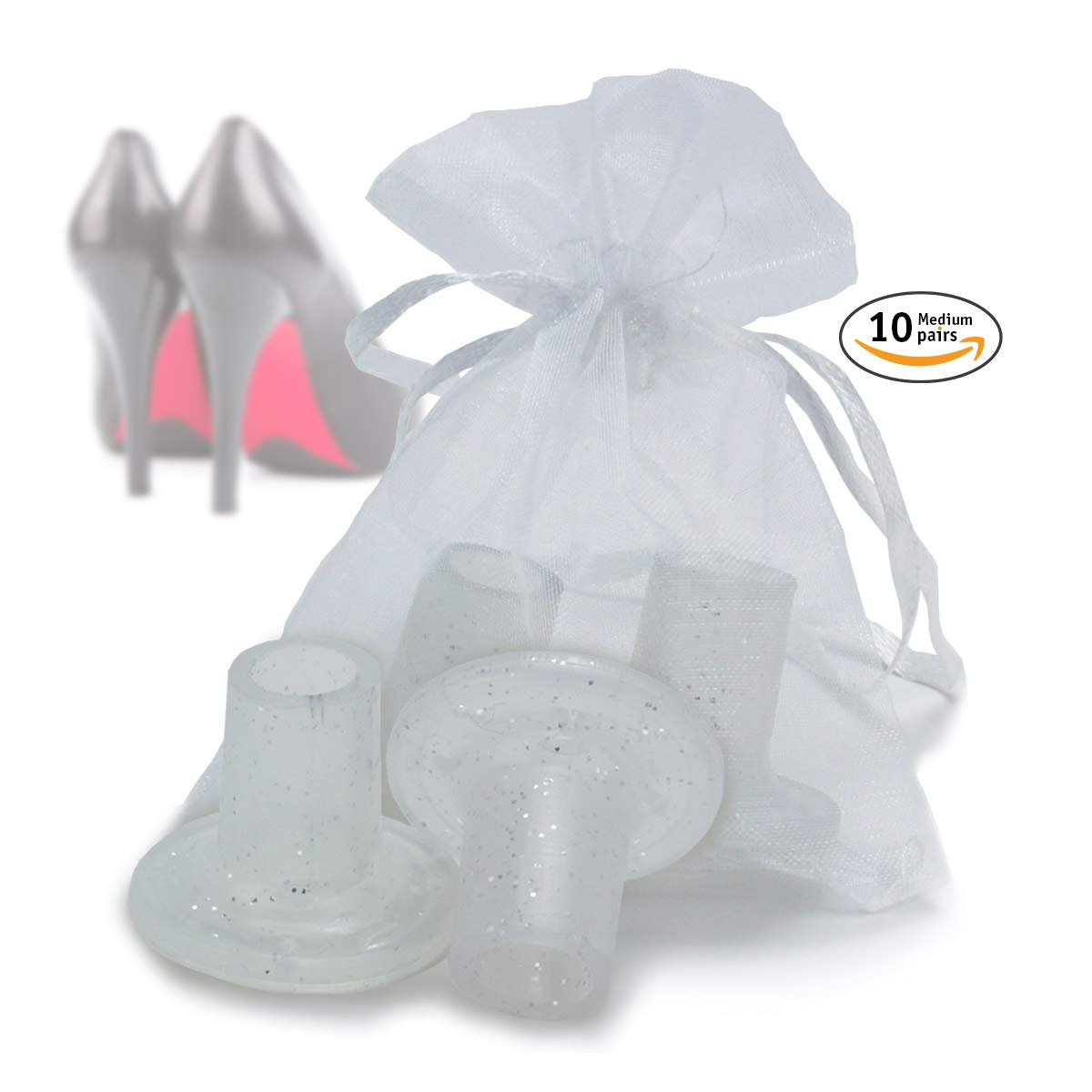 Wowly High Heel Protectors for Shoes -Pack of 10 Heel Savers (Medium Size)