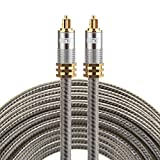 Optical Cables, EMK YL-A 15m OD8.0mm Gold Plated Metal Head Toslink Male to Male Digital Optical Audio Cable