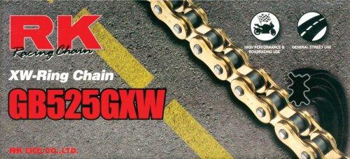 (RK Racing Chain GB525GXW-116 Gold 116-Links XW-Ring Chain with Connecting Link )