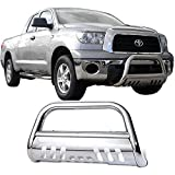 2011 toyota tundra grill guard - Bull Bar Fits 2007-2017 Toyota Tundra | SS Grill Guard Front Bumper With Skid Plate by IKON MOTORSPORTS | 2008 2009 2010 2011 2012 2012 2013 2014 2015 2016