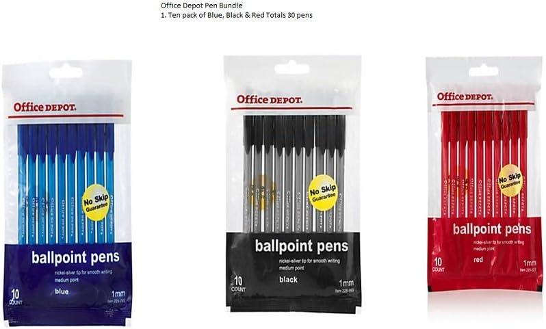 Office Depot marca Tinted bolígrafos Stick bolígrafos, Medio Point ...
