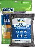 Gonzo Bamboo Charcoal - 1 Medium Bag 250g - Odor Eliminator Bags Natural Purifying Charcoal Odor...