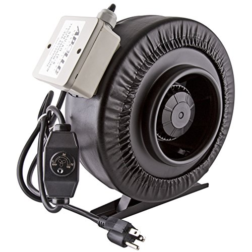 "Apollo Horticulture 8"" Inch 740 CFM Inline Duct Fan with Built in Variable Speed Controller"