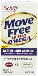 Move Free Ultra Omega Joint Supplement with Omega-3 Krill Oil, Hyaluronic Acid and Astaxanthin-30 ct