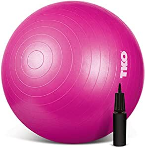 TKO Anti-Burst Exercise Stability Ball with Pump, 65cm, Pink
