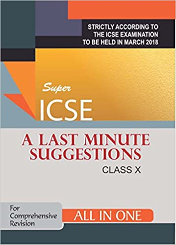 Amazon in: Buy ICSE - A Last Minute Suggestions for