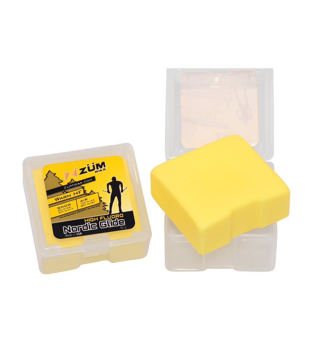 ZUMWax HIGH FLUORO NORDIC/CROSS-COUNTRY RACING GLIDE WAX - WARM Temperature
