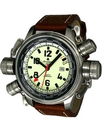 Aeromatic XXL ALARM-Worldtour Uhr mit Sicherheitskronensystem A1326
