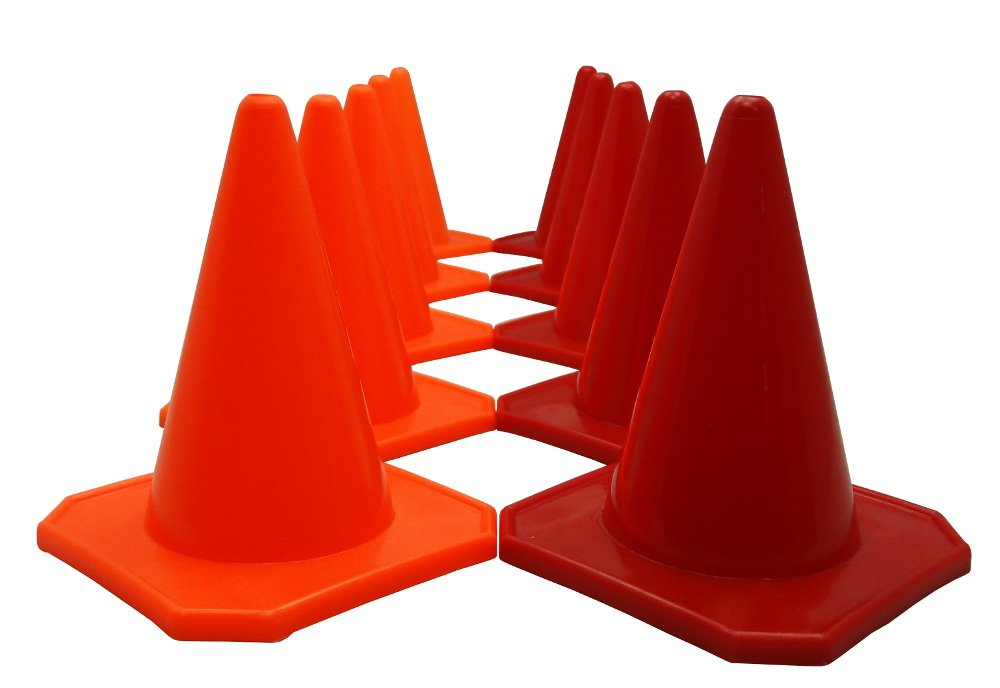 Bluedot Trading 4'' RC Racing Agility Cones, Orange & Red - Set of 10