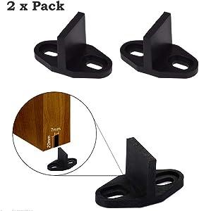 Barn Door Hardware Floor Guide Sliding Wood Door Floor Mounted Bottom Guide 2 Pack Set PeggyHD