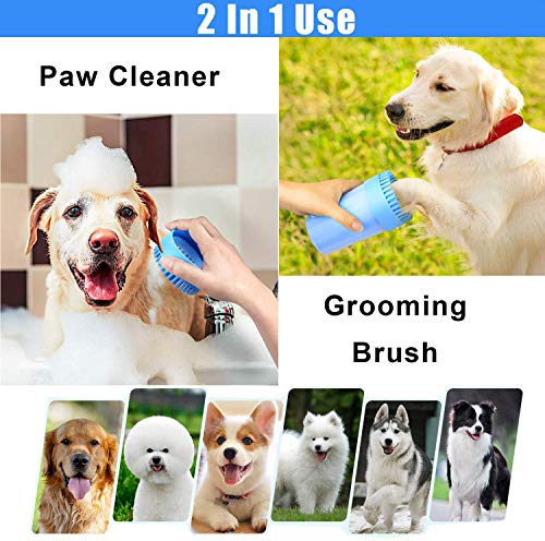 Emoly Portable Dog Paw Cleaner Upgrade Dog Cleaning Brush Paw Cleaner for Small/Medium Dogs (New, Red)