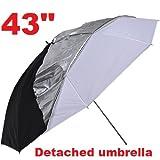 "CanadianStudio Studio Photo photography 43"" double-layer Shake-off Reflective Soft Umbrella Detached Umbrella"