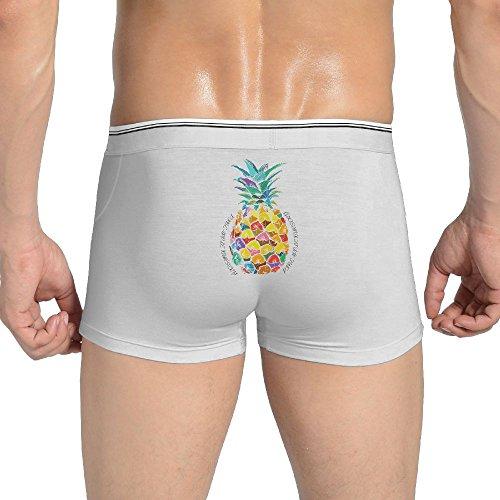 COOLSHEN Underwear Fashion Pineapple Nursery Fruit American Flag Man Love Briefs Underwear X-Large by COOLSHEN