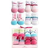 Luvable Friends 4-Piece Girl Novelty Socks Gift Set