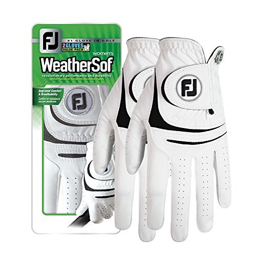New (2 Pack) FootJoy WeatherSof Ladies Golf Gloves - For Ladies, Worn on Left Hand (Medium)