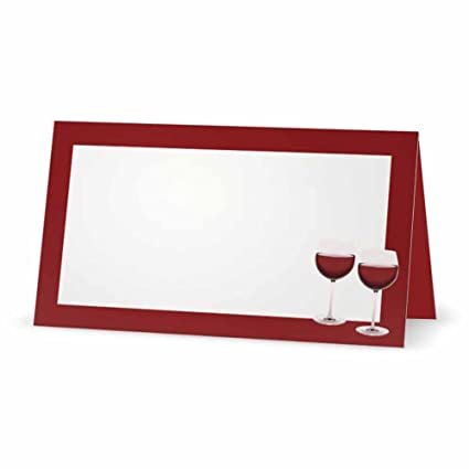 amazon com wine place cards tent style 10 pack white blank