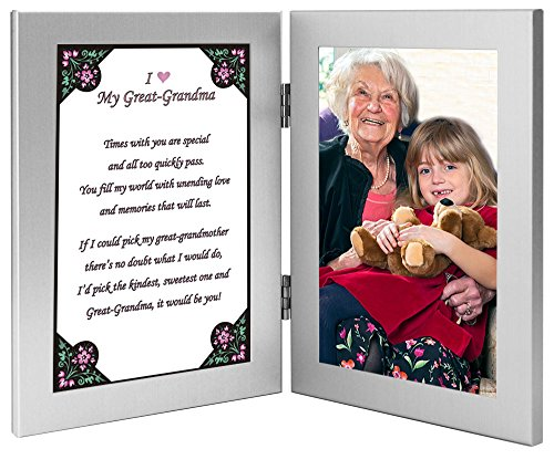 Great Grandmother Gift From Grandchild - Great Grandma Frame with Sweet Poem - Add Photo After Delivery (Great Delivery Gifts)
