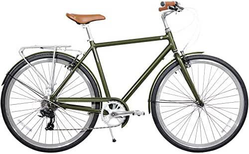 Gama Bikes Men's Metropole 8 Speed Shimano Hybrid Urban Commuter Road Bicycle, 700c wheels