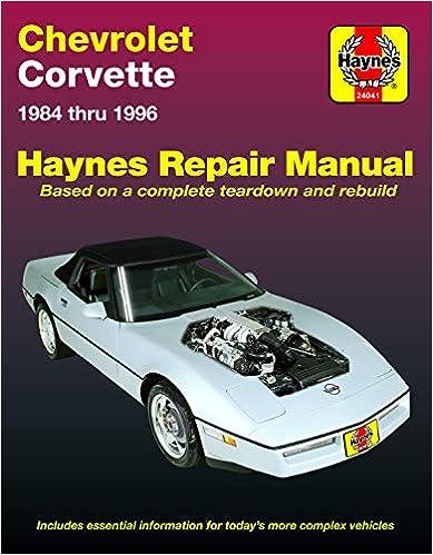 Chevrolet Corvette (84-96) Haynes Repair Manual (Does not include  on