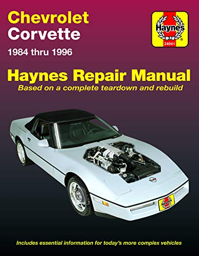 Chevrolet Corvette (84-96) Haynes Repair Manual (Does not include information specific to ZR-1 models. Includes thorough vehicle coverage apart from the specific exclusion noted) ()