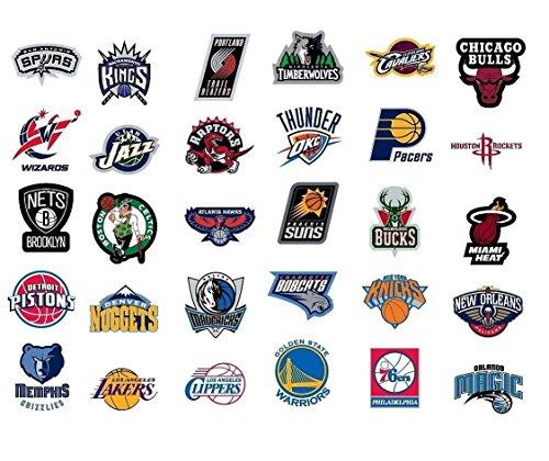 - NBA * National Basketball Association Team Logo Stickers Set of 30 Teams 4