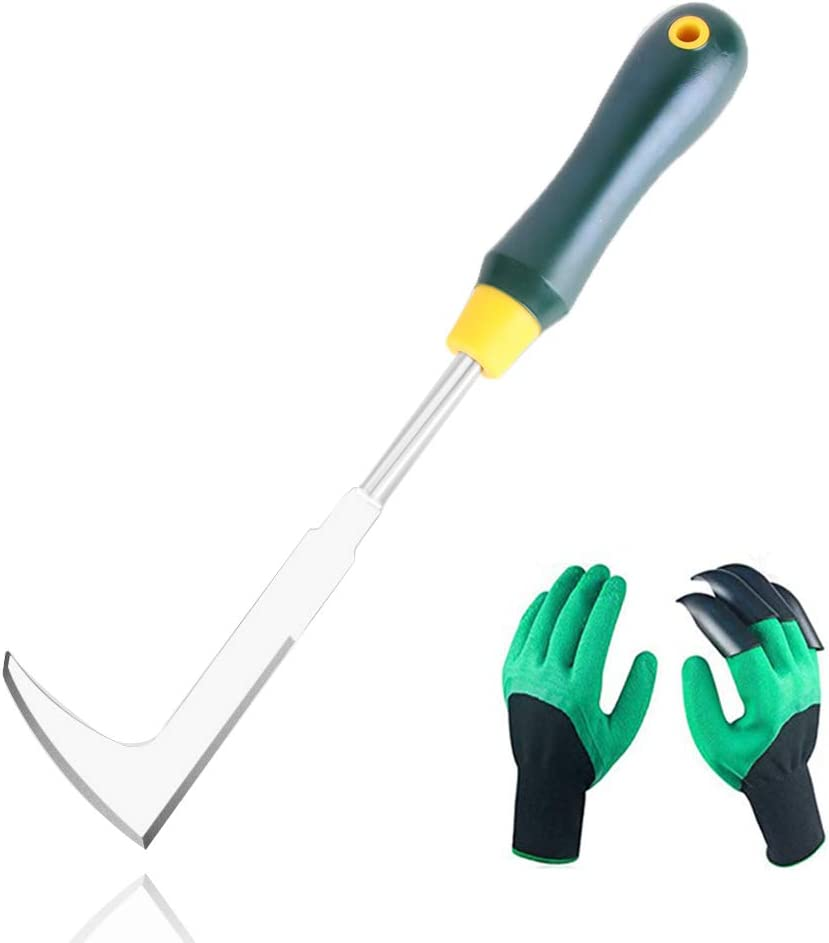 SWANSOFT Crack Weeder, Stainless Steel Weed Snatcher, Crevice Weeding Tool for Garden, Patio Pavers & Driveway Cracks : Garden & Outdoor