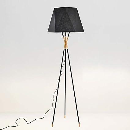 Lámpara de pie Minimalista Moderna, trípode Negro Lámpara ...