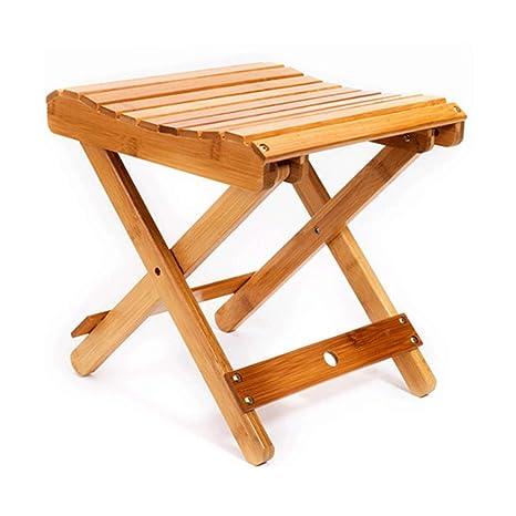 Silla Plegable De Bambú, Portátil Y Ecológica, Adecuada para ...