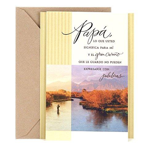 - Hallmark Vida Spanish Birthday Greeting Card for Father (Landscape Photo)