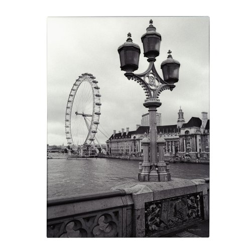London Eye by Kathy Yates, 16x24-Inch Canvas Wall - London Wheel Eye Ferris