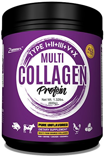 Beef Liver Powder - Multi-Collagen Protein Powder 21oz Best Value - High-Quality Blend of Grass-Fed Beef, Wild Fish, Patent Formula-TendoGuard™️-Chicken, Eggshell Collagen Peptides, Providing Type I, II, III, V and X.